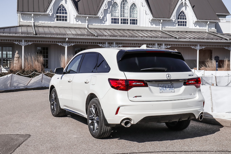 2019 Acura MDX A-Spec rear quarter view