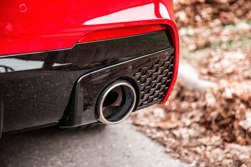 2019 Acura TLX A-Spec dual exhaust tips
