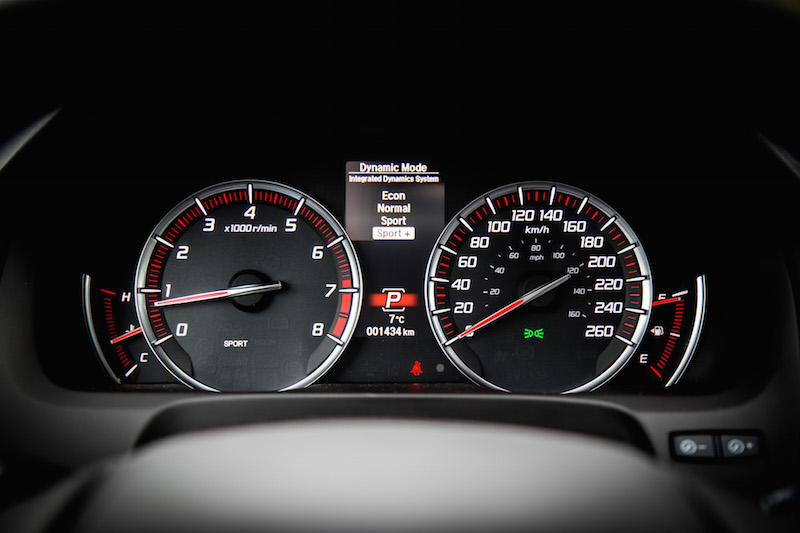 2019 Acura TLX A-Spec analog gauges