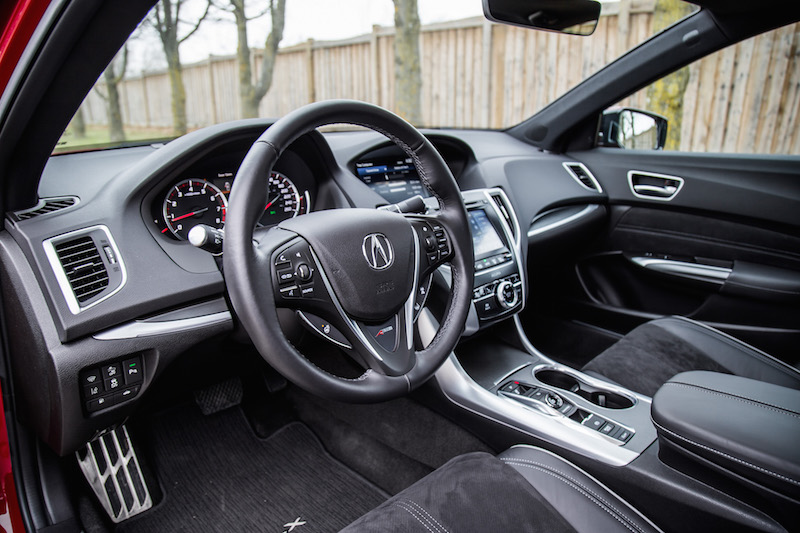 2019 Acura TLX A-Spec interior black