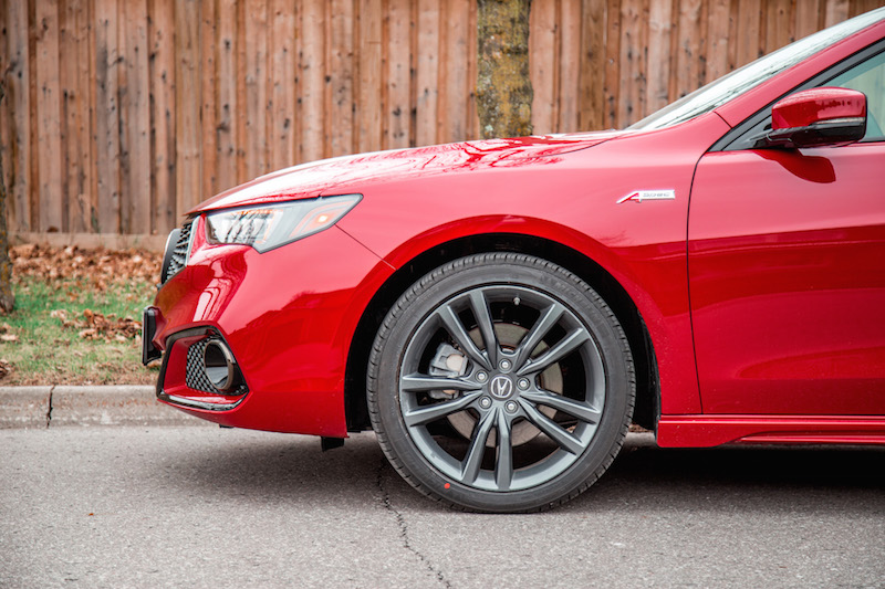 2019 Acura TLX A-Spec wheels 19-inch winter tires