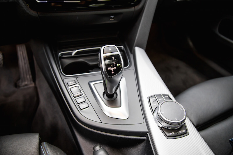2019 BMW 430i xDrive Gran Coupe gear shifter
