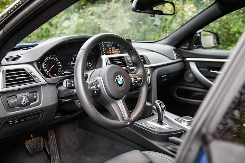 2019 BMW 430i xDrive Gran Coupe interior black dakota leather