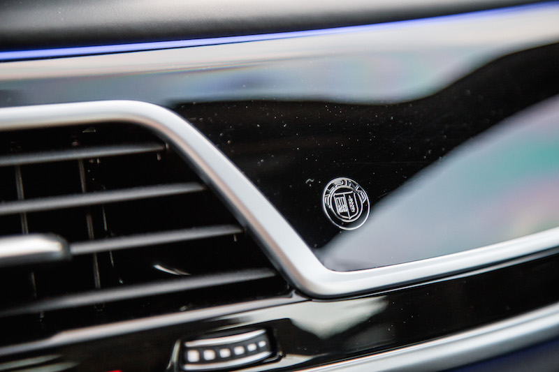 2019 BMW Alpina B7 dashboard badge crest