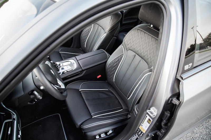 2019 BMW Alpina B7 front seats