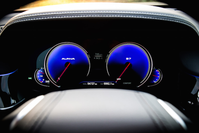 2019 BMW Alpina B7 gauges