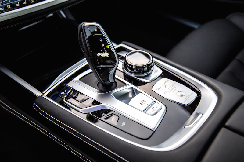 2019 BMW Alpina B7 gear shifter