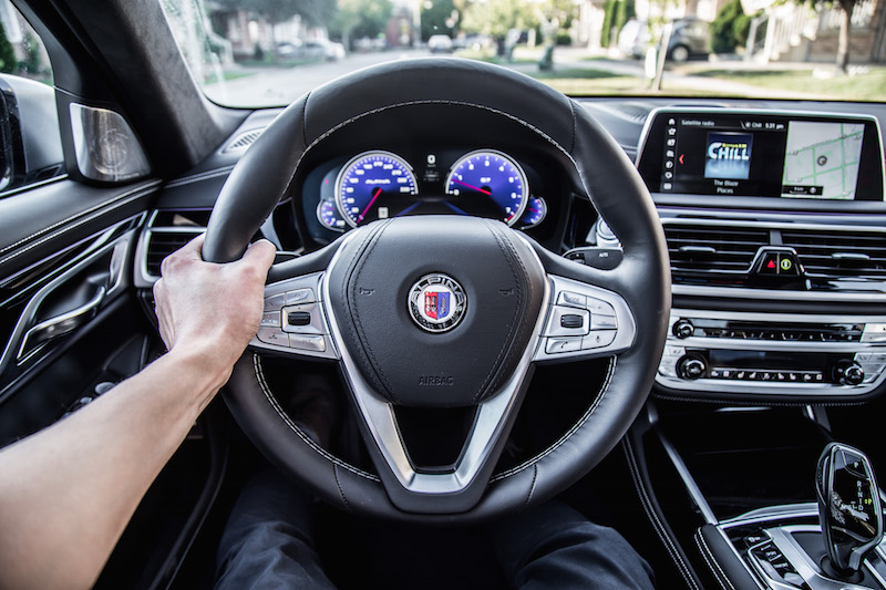2019 BMW Alpina B7 steering wheel