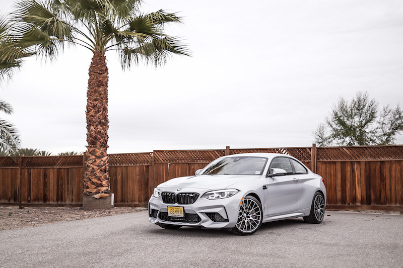 2019 BMW M2 Competition with palm tree