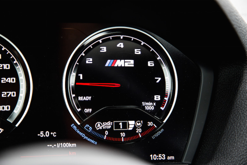 2019 BMW M2 Competition digital tachometer