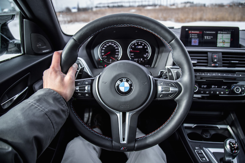 2019 BMW M2 Competition steering wheel