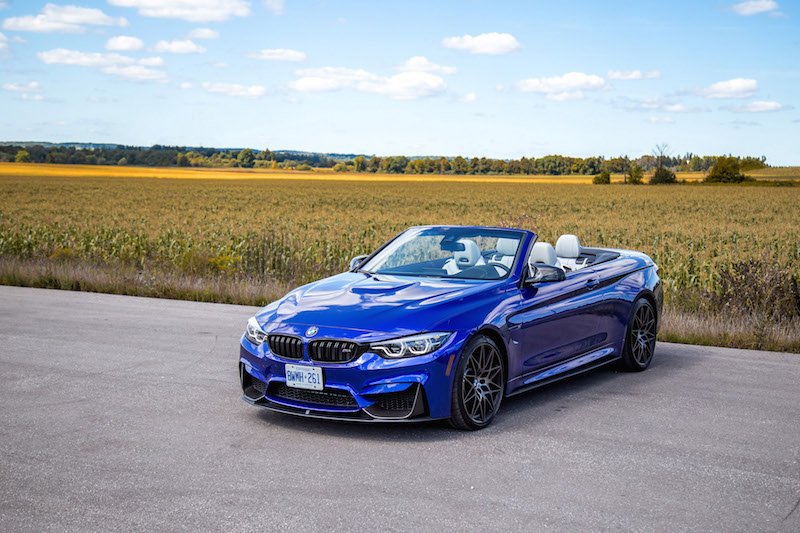 2020 BMW M4 Competition Cabriolet san marino blue