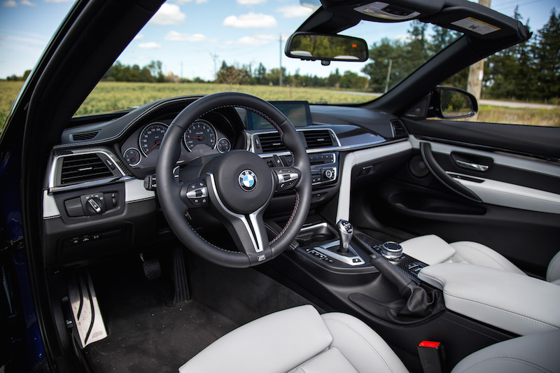 2020 BMW M4 Competition Cabriolet silverstone merino leather interior
