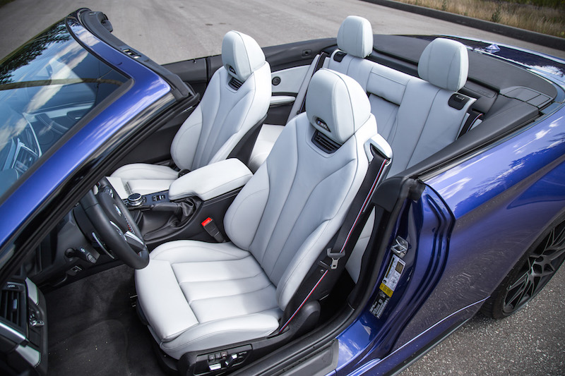2020 BMW M4 Competition Cabriolet seats silverstone merino leather
