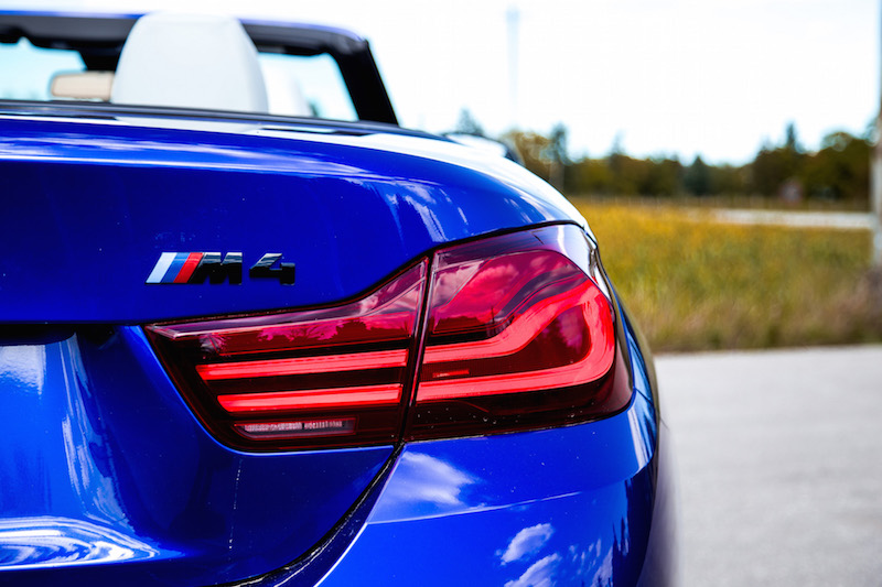 2020 BMW M4 Competition Cabriolet rear taillights
