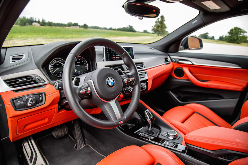 2019 BMW X2 M35i interior magma red