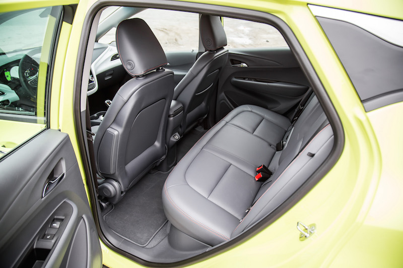 2019 Chevrolet Bolt rear seat space legroom headroom
