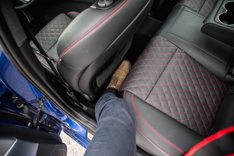 g70 rear seat legroom bad