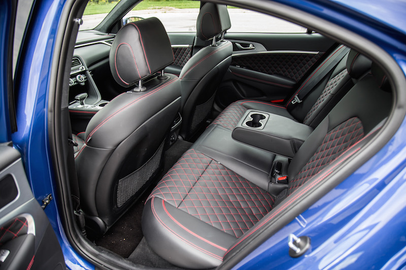 2019 Genesis G70 3.3t Sport AWD rear seats
