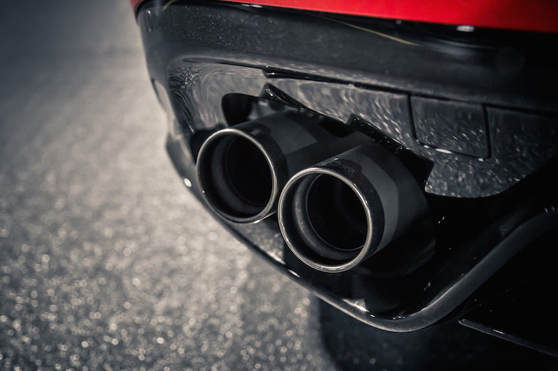2019 Jaguar F-Type SVR exhaust tips quad