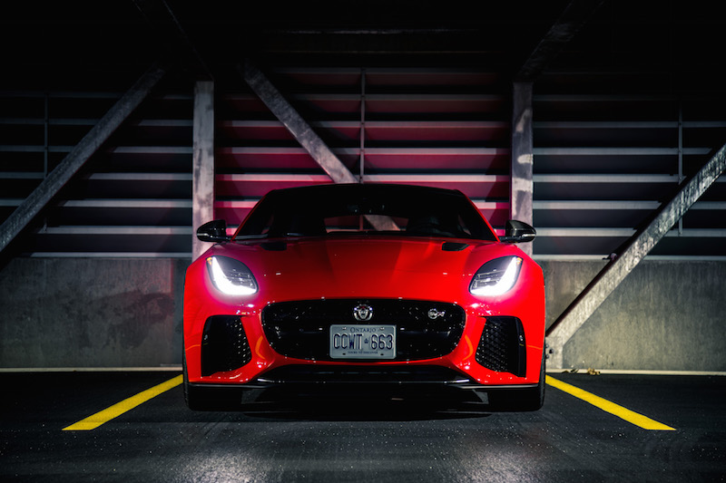 2019 Jaguar F-Type SVR front end