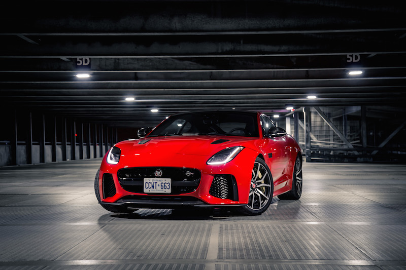 2019 Jaguar F-Type SVR red paint caldera