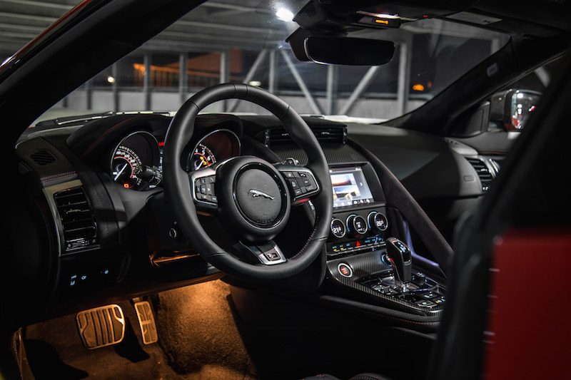 2019 Jaguar F-Type SVR black interior