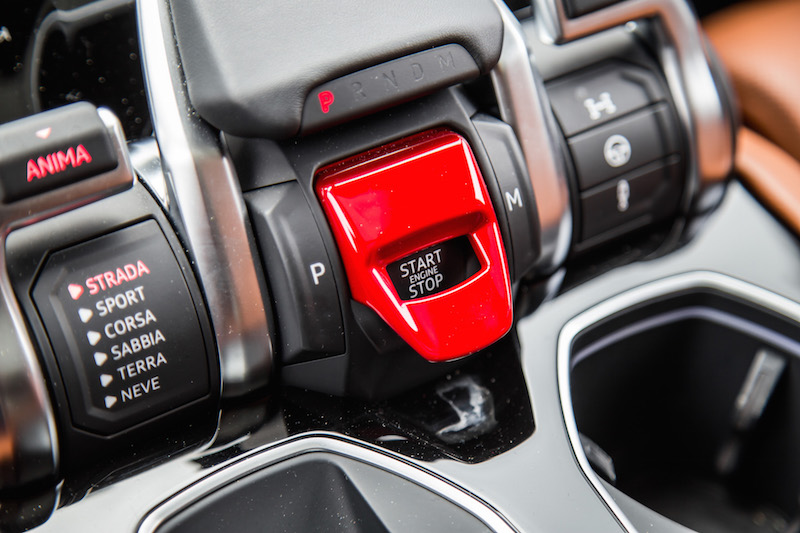 2019 Lamborghini Urus red cover start button