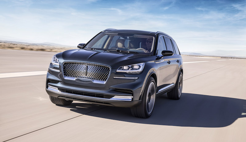 2019 Lincoln Aviator flight blue paint colour