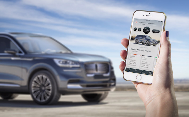 2019 Lincoln Aviator phone as a key app