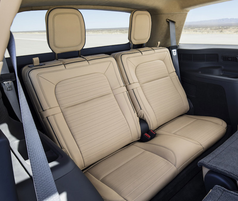 2019 Lincoln Aviator third row rear seats