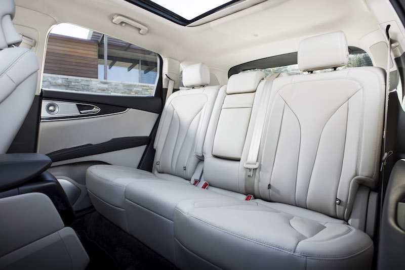 2019 Lincoln Nautilus rear seats