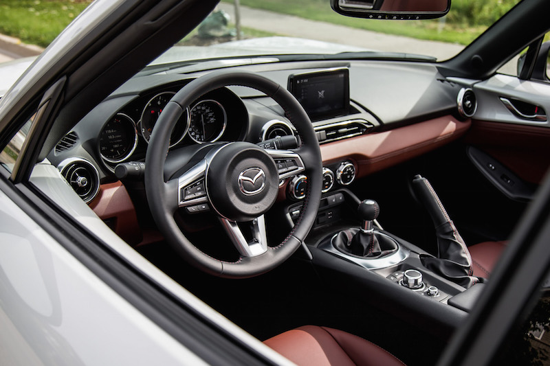 2019 Mazda MX-5 RF interior brown nappa leather