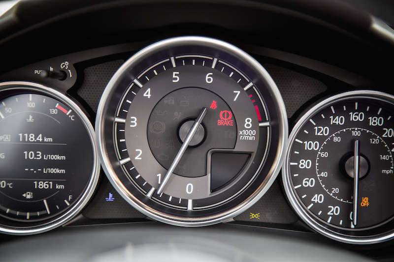 2019 Mazda MX-5 RF new redline higher gauges