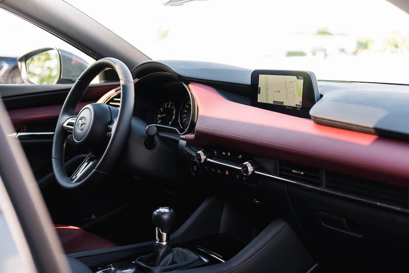 2019 Mazda3 Sport GT Manual red dashboard leather