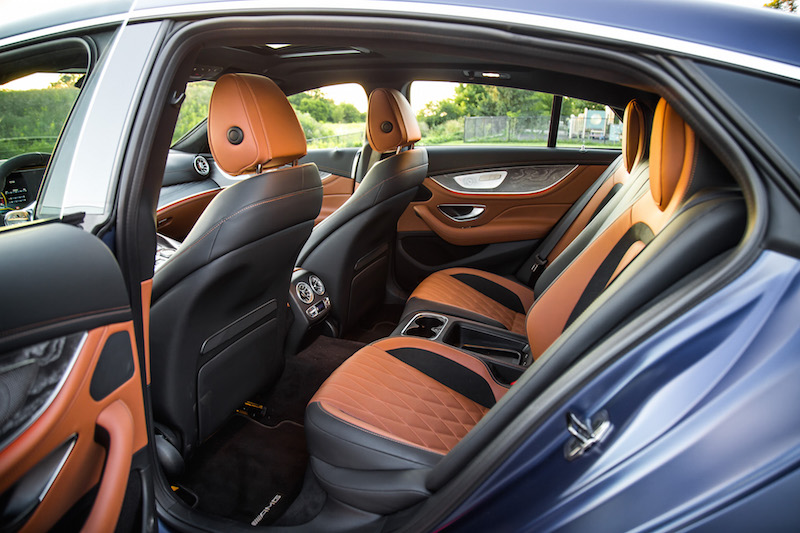 2019 Mercedes-AMG GT 63 S rear seats legroom space