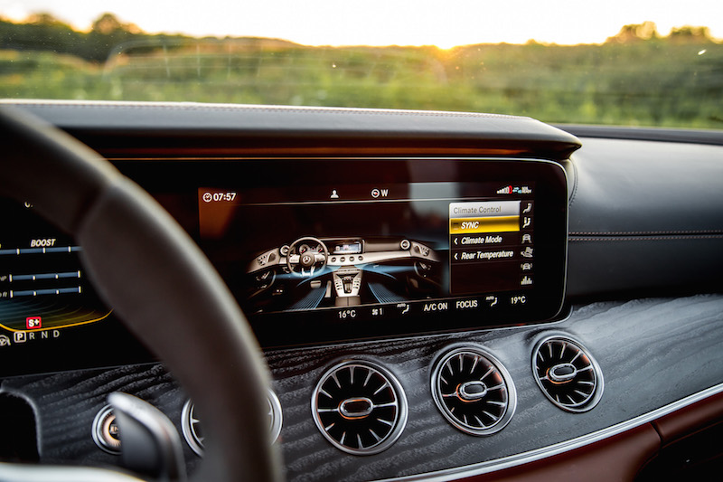 2019 Mercedes-AMG GT 63 S infotainment display