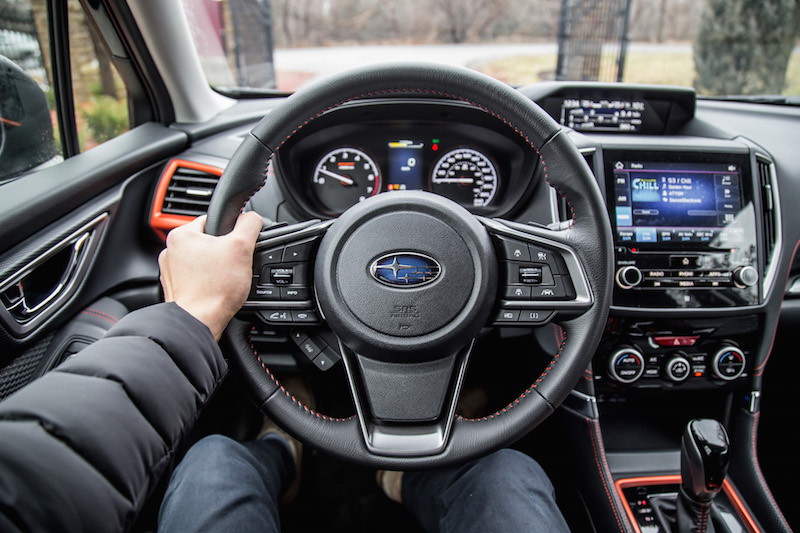 2019 Subaru Forester Sport steering wheel