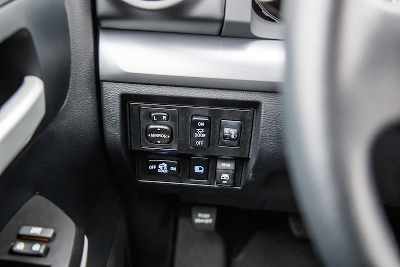2019 Toyota Tundra TRD PRO side driver controls for lights exterior