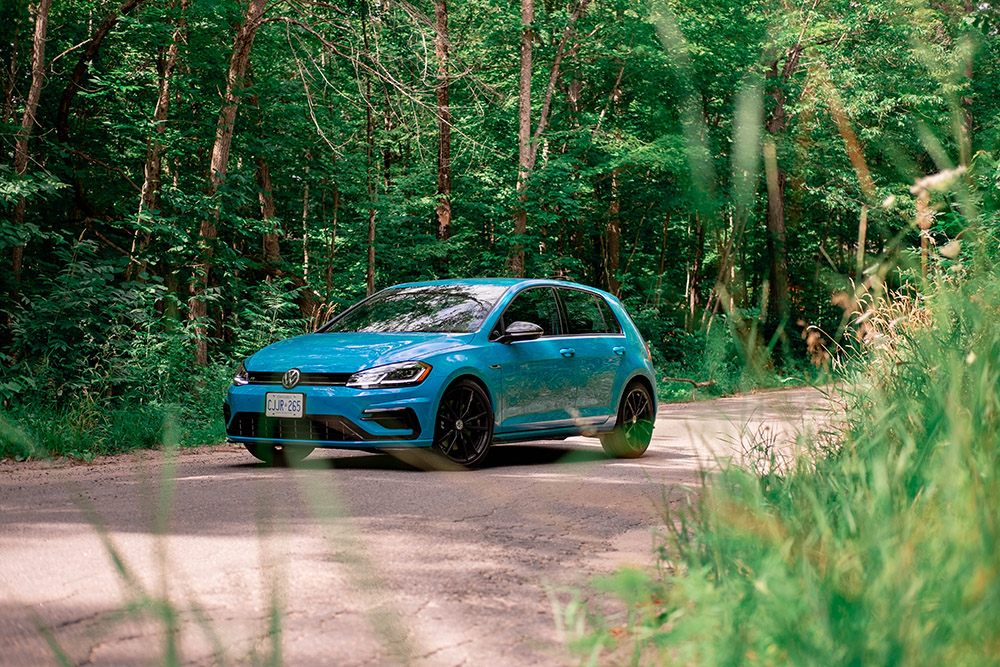 2019 vw golf r 91 blue