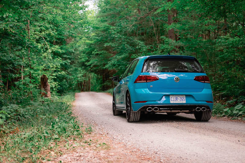 2019 Volkswagen Golf R 91 blue rear