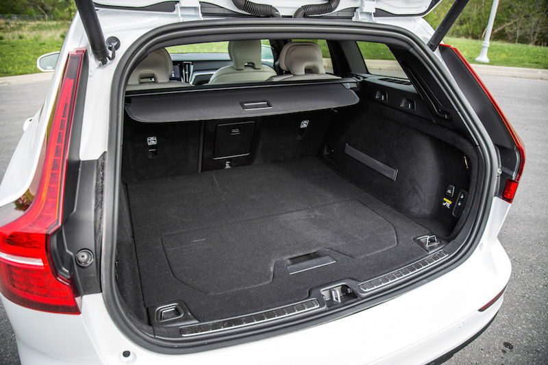 2019 Volvo V60 Cross Country trunk space cargo room