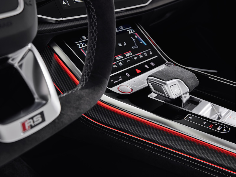 2020 Audi RS Q8 suede gear shifter