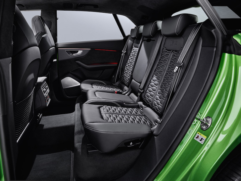 2020 Audi RS Q8 rear seats