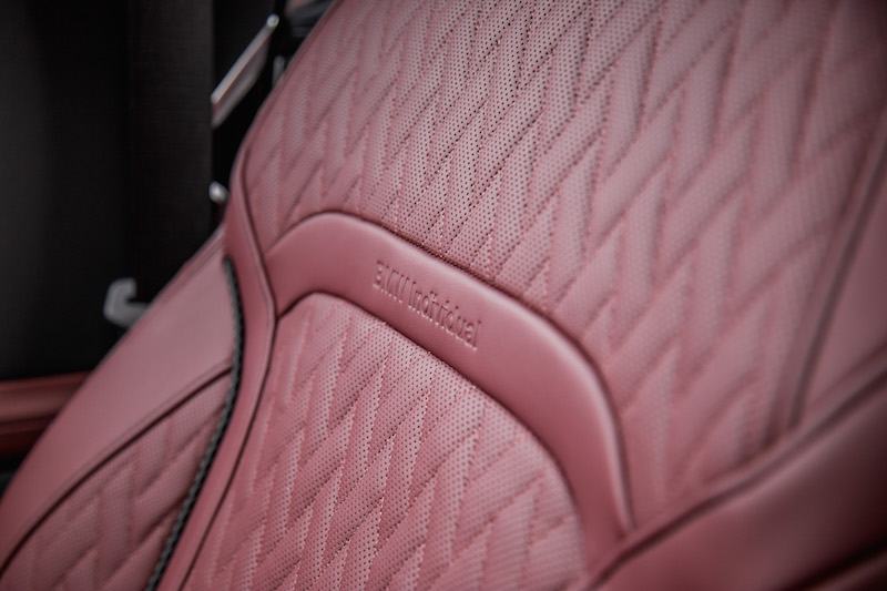 2020 BMW 7 Series BMW Individual Amarone Merino Leather seat stitching
