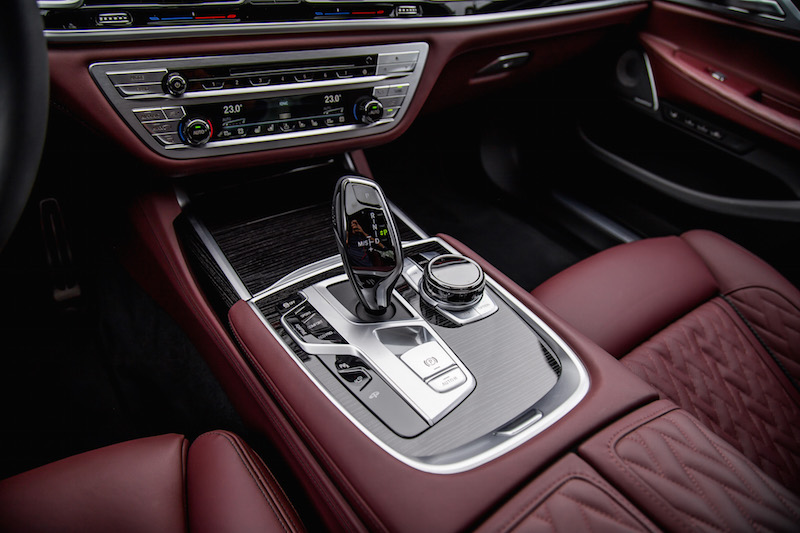 2020 BMW 750Li 7 Series center console