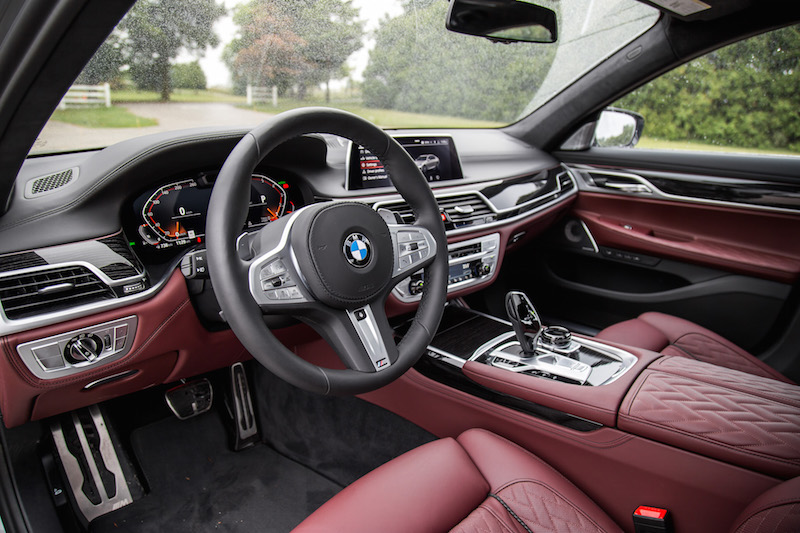2020 BMW 750Li 7 Series amarone merino leather interior