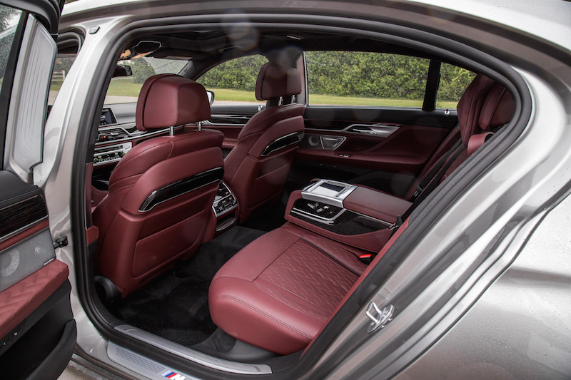 2020 BMW 7 Series BMW Individual Amarone Merino Leather rear seats