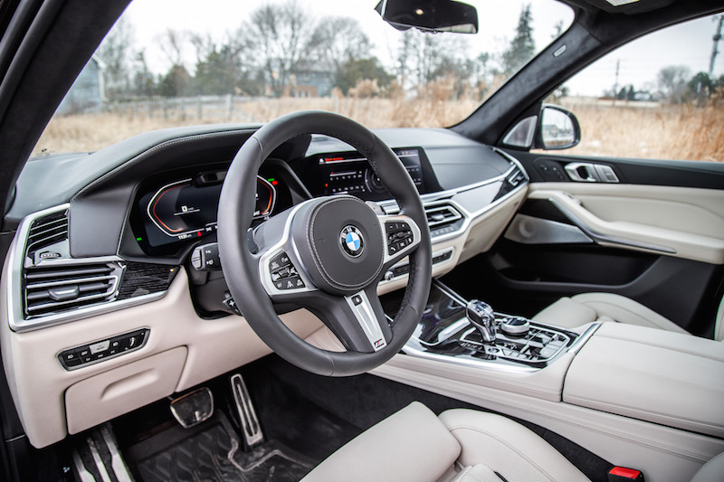 2020 BMW X7 M50i ivory white interior extended merino leather