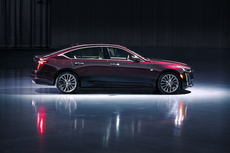 2020 Cadillac CT5 purple burgundy red paint colour